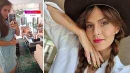 Claudia Álvarez muestra cuánto ha crecido su pancita de embarazo