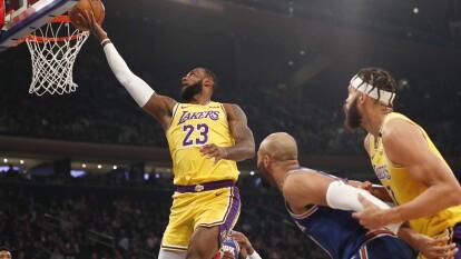 Todos los resultados de los juegos del 22 de enero. | New York Knicks 92-100 LA Lakers