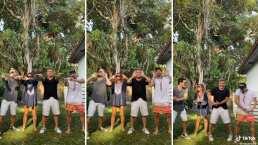 Mau y Ricky convencen a sus papás de bailar un reto con ellos en TikTok (VIDEO)