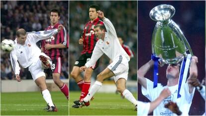 - Así está catalogada la anotación de Zinedine Zidane en la edición 2001-2001 entre el Real Madrid y Bayer Leverkusen.