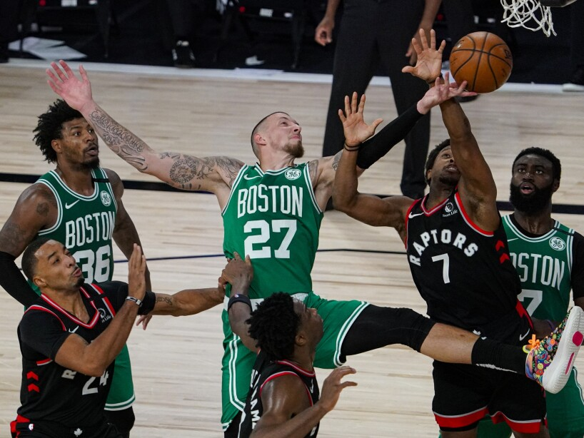 APTOPIX Raptors Celtics Basketball