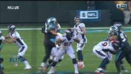 ¡Estupendo pase de Lock! Drew lanza para un TD de 49 yardas.