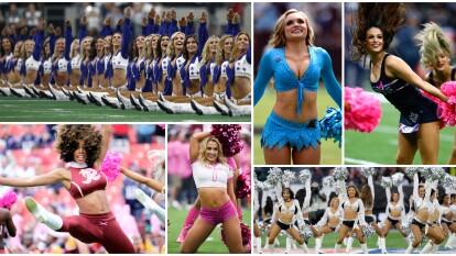 Coreografías, sonrisas, porras de aliento y mucho color es lo que aportan las Cheerleaders en los estadios de la NFL.