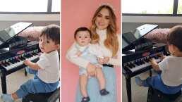 Sherlyn presume que tiene al mejor pianista en casa y es su adorable hijo, André