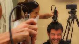 'Resultado perfecto e idóneo': Biby Gaytán le corta el cabello a su esposo Eduardo Capetillo
