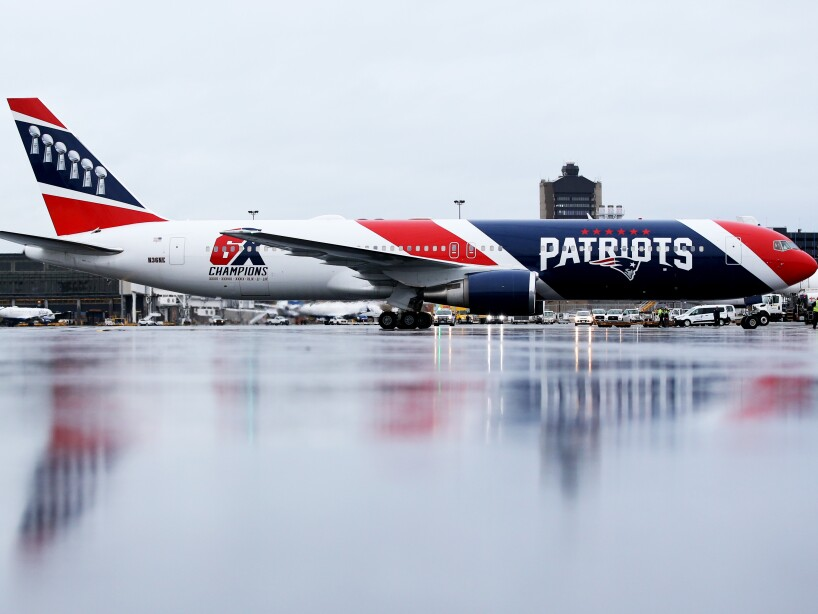 New England Patriots Plane Used To Bring Medical Supplies From China To Boston