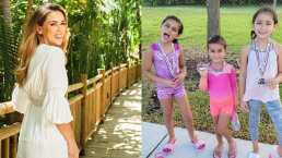 Renny, hija de Jacky Bracamontes, sorprendió al dar giros en el aire como toda una gimnasta