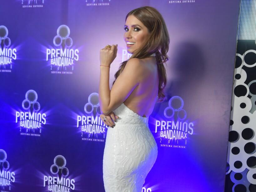 Andrea Escalona en la Alfombra Morada