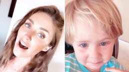 Anahí canta 'Sálvame' y su hijo rompe en llanto tras escucharla cantar