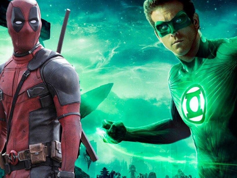 Ryan Reynolds como Linterna Verde y Deadpool.