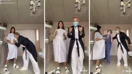 Sharon Fonseca cautiva con un baile mientras se encuentra en labor de parto