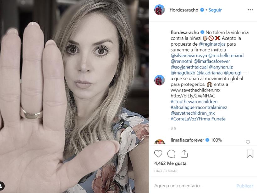 18 Famosos se unen a campaña en Instagram en contra de violencia infantil