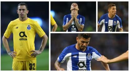Los ex América, Mateus Uribe y Agustín Marchesín, así como Corona, recibieron tres goles en casa.