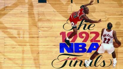 Jordan obtuvo su segundo título con los Chicago Bulls en seis partidos vs Portland Trail Blazers.