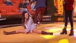 Oh no: Mariana Echeverría volvió a hacer un split en 'Paso a Pasito'