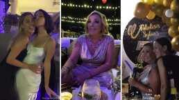 Sylvia Pasquel festeja en grande sus 70 años al lado de Stephanie y Michelle Salas
