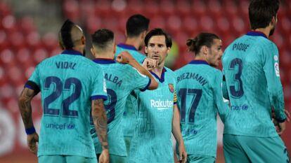 El Barcelona regresa con goleada al futbol en su visita al Mallorca. Los comandados por Lionel Messi golearon como visitantes 0-4.