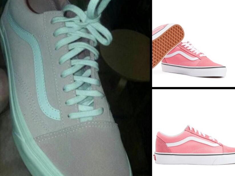 Tenis gris con azul o rosa con blanco, el reto que se volvió viral en internet