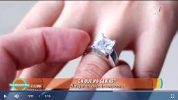 A QUE NO SABÍAS: Descubre el origen del anillo de compromiso