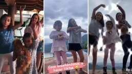 Jacky Bracamontes y sus hijas le entran a los bailes de TikTok; fans piden que abran su cuenta oficial