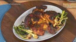 RECETA: Pollo rostizado con adobo de limón y ajo