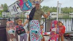 El esposo de Jacky Bracamontes y sus hijas se llevaron gran sorpresa al descubrir que nadaban al lado de un tiburón