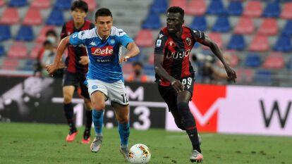 'Chucky' y el Napoli rescataron un punto en su visita a Bolonia | Los de Gattuso sacaron el empate a un gol; Hirving Lozano partició 61 minutos en el cotejo.