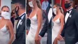 Así fue como Ester Expósito y Alex Speitzer llegaron agarraditos de la mano al Festival de Venecia