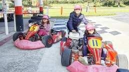 Hijas de Jacky Bracamontes demuestran su amor por la velocidad entre go-karts y cuatrimotos