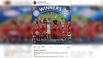 Bayern derrota 0-1 al PSG en la final de la UEFA Champions League, y los alemanes inundan las redes sociales con las celebraciones del sexto título.