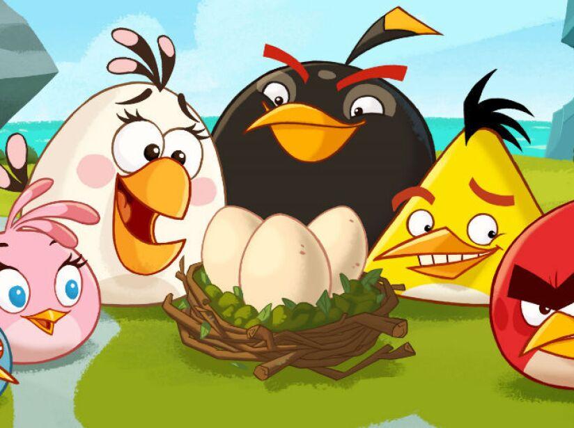 10. Angry Birds: Esta serie de videojuegos, creada en 2009, incluye a un pollito amarillo entre sus personajes.