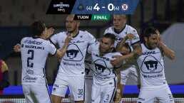 ¡Avanzan a la Final! Pumas logra el milagro y vence 4-0 a Cruz Azul