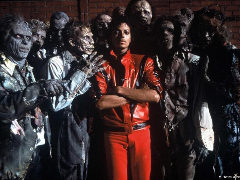 6. Zombies de Thriller: Antes de que Michael Jackson diera miedo por sus cirugías, este video provocaba pesadillas.