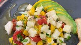 RECETA: Ceviche de palmitos, jícama y mango