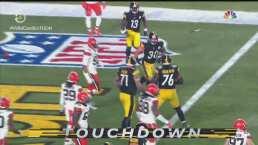 ¡James Conner rompe el cero para los Steelers con TD!