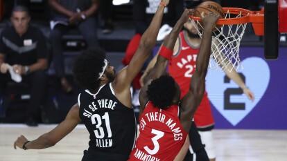Los Raptors ganan 150-122, sentencian la serie y mandan a los Brooklyn Nets de vuelta a casa.