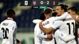 Zlatan marca doblete ante Cagliari y da liderato a Milan en Serie A