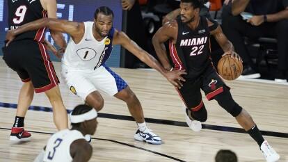 Con un resultado de 87-99 a favor de Miami, el Heat consigue una serie perfecta y avanzan a la siguente ronda de los Playoffs.