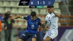 Pachuca rescata empate ante Monterrey en partido 10 vs 10