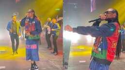 Snoop Dogg aparece en una 'nube de humo' en el concierto de Banda Ms