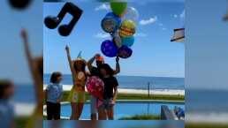 Thalía sorprendió a su esposo Tommy Mottola por su cumpleaños con un emotivo mensaje desde el aire