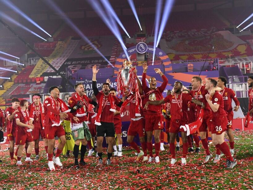 Liverpool celebra en Anfield