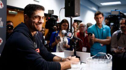 Jimmy Garoppolo disfrutó mucho las preguntas de la prensa.
