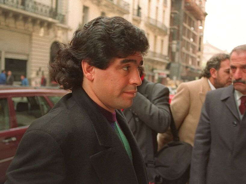 Argentinian soccer player Diego Maradona enters co