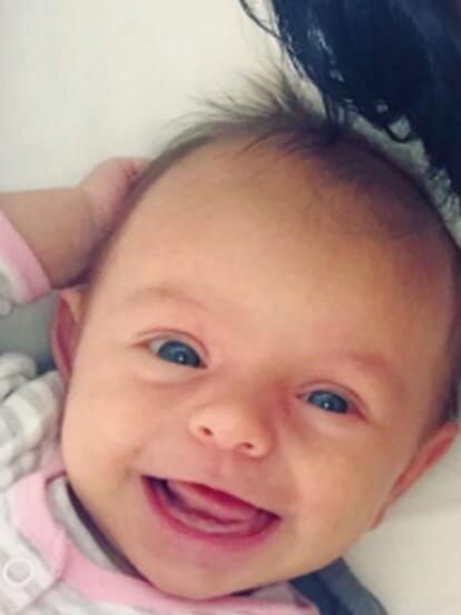 Sus primeras sonrisas fueron captadas en Instagram.