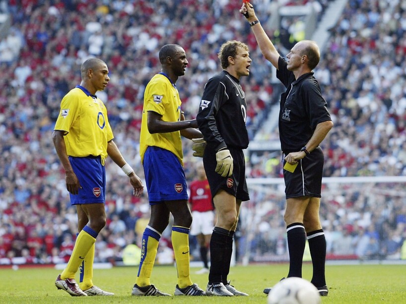 Patrick Vieira is sent off