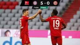 ¡Con una 'manita'! Bayern Munich golea a Fortuna Düsseldorf