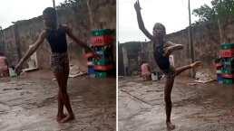 Video: Niño en Nigeria se vuelve viral por bailar ballet bajo la lluvia y le ofrecen beca para la Universidad