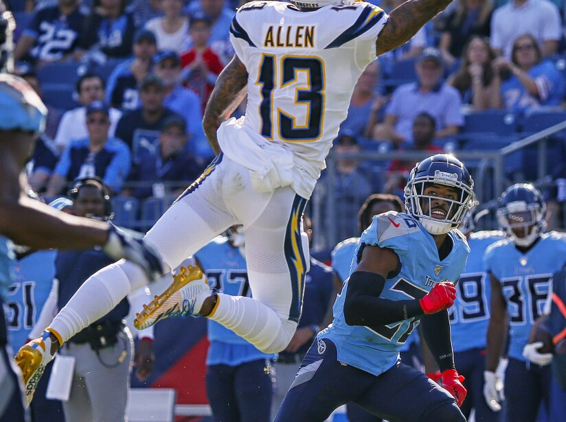 Los Angeles Chargers vTennessee Titans