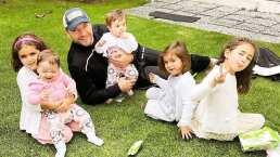 El esposo de Jacky Bracamontes instruye a sus gemelas en divertidos 'deportes extremos'